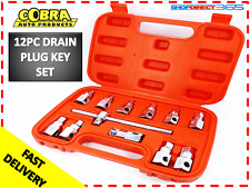 Drain Plug Key Socket Set Sump Oil Axle Sockets 12 Piece Tool Car Garage 15-8