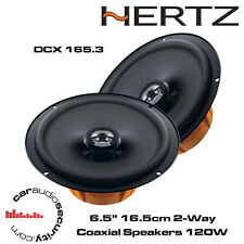"Hertz DCX165.3 Dieci Series 16.5cm 6.5"" 2-Way Coaxial Door Speakers 120W Each"