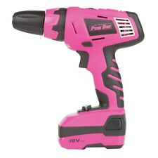 The Original Pink Box 18-Volt Rechargeable Cordless Drill with Lithium Ion Batte