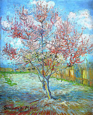 VINCENT VAN GOGH Peach Tree Reproduction of painting 16.5X12 CANVAS PRINT poster