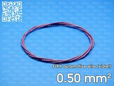 Automotive wire FLRY 0.5mm², violet color, 1 meter length