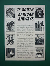 10/1963 PUB COMPAGNIE AERIENNE SOUTH AFRICAN AIRWAYS BOEING 707 ORIGINAL AD