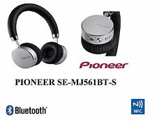 Pioneer SE-MJ561BT-S Bluetooth Wireless Headphones with NFC Connectivity - Bl...