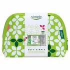 SIMPLE SKIN CARE WIPES HYDRATING LIGHT MOISTURER 125ML COSMETICS BAG GIFT SET