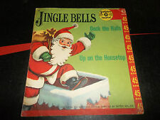 JINGLE BELLS DECK THE HALLS UP ON THE HOUSETOP 45 record SLEEVE ONLY 35
