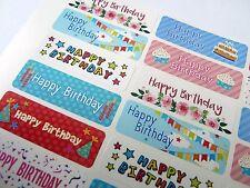 Colorato Happy Birthday Saluti Adesivi, Etichette per Carte & Regali HBW-4715-3