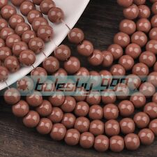 100pcs Pearl Colors Round Glass Loose Spacer Beads Wholesale Lots 4mm/6mm/8mm