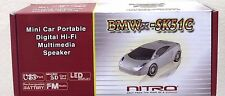 "Nitro BMWx-SK51C Black Mini Car 6"" Portable Digital HI-FI Multimedia Speaker"
