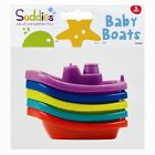 5 X BABY FLOATING KIDS CHILDREN BATH TUB TIME FUN PLAY PLASTIC BOATS TOYS SET