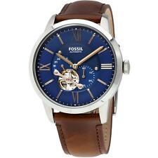 FOSSIL MEN'S 44MM BROWN LEATHER BAND STEEL CASE AUTOMATIC ANALOG WATCH ME3110