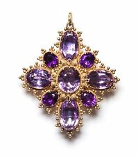 GEORGIAN AMETHYST, GOLD, BROOCH/PENDANT