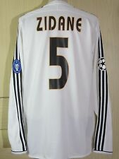 ZIDANE ZINEDINE #5 CHAMPIONS LEAGUE 2004 REAL MADRID LONGSLEEVED SHIRT ADIDAS XL