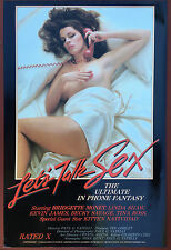 LET'S TALK SEX - Original Adult X-Rated Movie Poster (1984) w/ Ron Jeremy COA