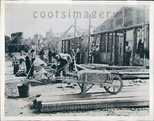 1944 WWII Families Of Monteburg France Return To Rebuild Homes Press Photo