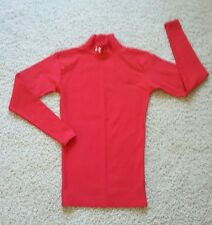 Men's S/Boy's XL Under Armour Coldgear Long Sleeve Fitted Mock Shirt Red