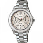 Ladies Casio Sheen stainless steel date and time watch SHE-3508D-7AUER