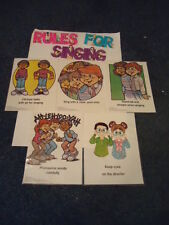 Rules For Singing Singing Skills - Bulletin Board Set - 5 different directions