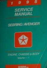 1995 Chrysler Sebring Dodge Avenger Shop Repair Service Manual ELECTRICAL VOL 2