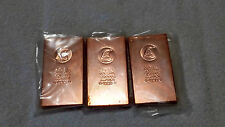 Pure Copper Bullion Bars, Three (3) One Kilo Bars .999 Fine Old New Stock 2011