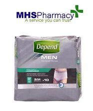 Depend Incontinence 10 Pants Men Male Super Small / Medium from 71-117 cm