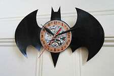Batman Logo (1) Vinyl Record Wall Clock bedroom playroom office shop home art