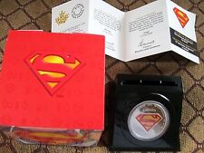SUPERMAN S SHIELD SILVER 2013 CANADA $20 COIN DC COMICS 75th ANNV COA NEW IN BOX