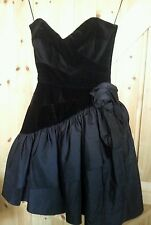 "Very Pretty Fitted Party Dress Chest 30""-32"" Approx Size  6 - 8 In Black"