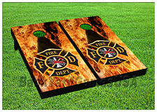 VINYL WRAPS Cornhole Boards DECALS Fire Dept BagToss Game Stickers 559