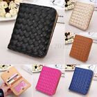 Women Chic Weave Leather Wallet Card Holder Small Bag Clutch Coin Purse Handbag