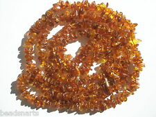 "Genuine Baltic Light Cognac Amber Tumbled Chip Beads - 5-7mm - 34"" strand"