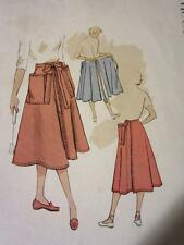 VTG 1951 MCCALLS SEWING PATTERN WRAP SKIRT BACK WRAP-A-ROUND CUT COMPLETE
