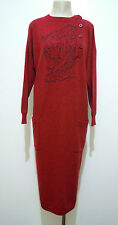KRIZIA ANIMAL VINTAGE '80 Abito Vestito Donna Lana Woman Wool Dress Sz.XL - 48
