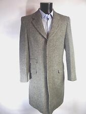 AQUASCUTUM Herringbone Substantial  Classic WOOL Coat Jacket UK 38 BNWT