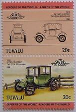 1914 DETROIT ELECTRIC Car Stamps (Leaders of the World / Auto 100)