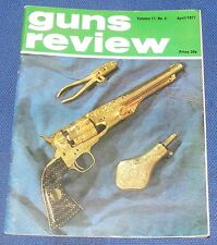 GUNS REVIEW MAGAZINE APRIL 1977 - MADSEN ARMS/TWO REMINGTON ARMY REVOLVERS