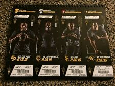 2015 ARIZONA STATE SUN DEVILS FOOTBALL SEASON TICKET STUB STRIP SHEET SET OREGON