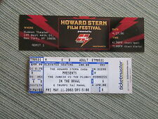 Howard Stern 2 Unused Full Tickets (Fight/Film Festival) (Great Shape/Rare)