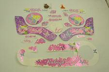 """14"""" RALEIGH MOLLY DECAL TRANSFER SET,STICKER PACK SUIT GIRLIE BIKES WTFRM14"""