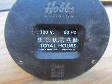 Vintage HOBBS STEWART WARNER Total Hours Meter 60HZ - 120V Steampunk industrial