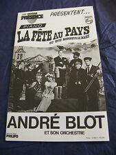 Partition La fête au pays ou Vive Monsieur le maire André Blot Piano Music Sheet