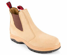 Dunlop Men's Hammer Suede Pull Up Safety Work Boot - Sand- AU Men's size 10
