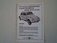 advertising Pubblicità 1967 VOLKSWAGEN BEETLE MAGGIOLINO