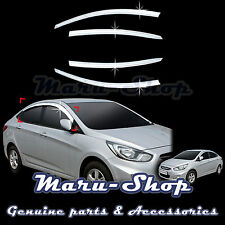 Chrome Door Window Vent Visor Deflector for 12+ Hyundai Accent/Verna 4DR