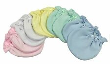 Solid Color Mix 5 Cotton Newborn Baby/infant No Scratch Mittens Gloves