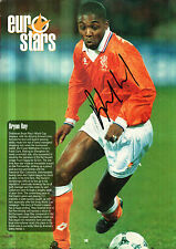 BRYAN ROY IN HOLLAND KIT HANDSIGNED 12 x 8 COLOUR MAGAZINE PICTURE