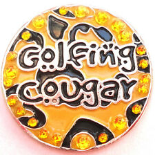 Golfing Cougar Ball Marker with Crystals - Package of 2