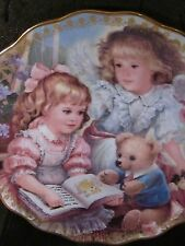 Brenda Burke 1997 My Little Guardian SHARING MY STORY Child Angel Ltd Ed Plate