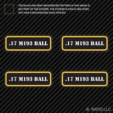 (4x) .17 M193 Ball Ammo Can Sticker Set Decal Self Adhesive molon bullet type 2