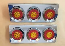 STAINLESS BASE 24V LED LIGHTS CHROME HAMBURGER REAR LAMPS LORRY TRUCK TRAILER
