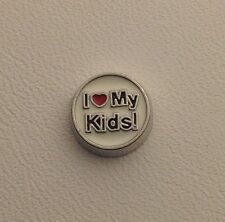 I (heart) My Kids Charms for Glass Floating Memory Lockets  #364